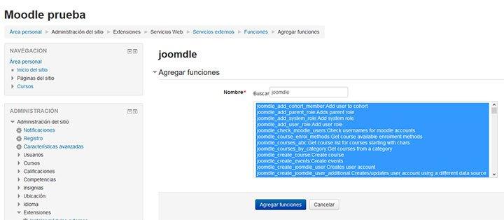agregar-funciones al servicio joomdle