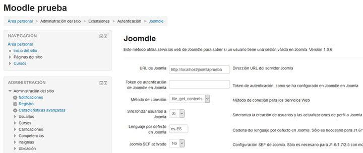 configurando joomdle