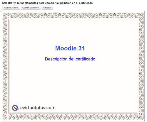 posicionar elementos custom certificate