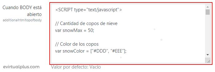donde agregar código html en moodle
