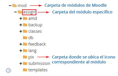 estructura del directorio de módulos de moodle