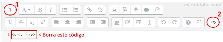 agregando código en bloque html de moodle