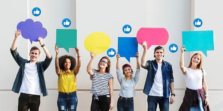 el poder de las redes sociales y estudiantes