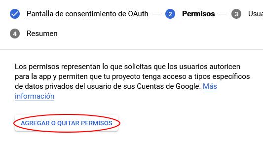 agregar permisos para app en google cloud platform