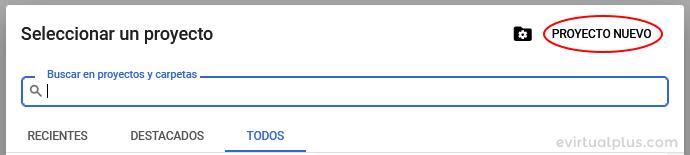 crear proyecto nuevo para loguearse con Moodle con las cuentas de Google