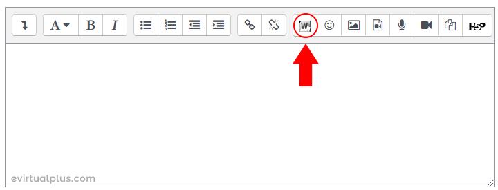 importar archivos Microsoft Word con el editor de texto de Moodle